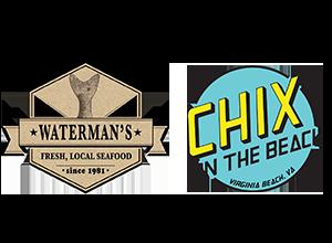 Waterman's & Chix on the Beach Logo