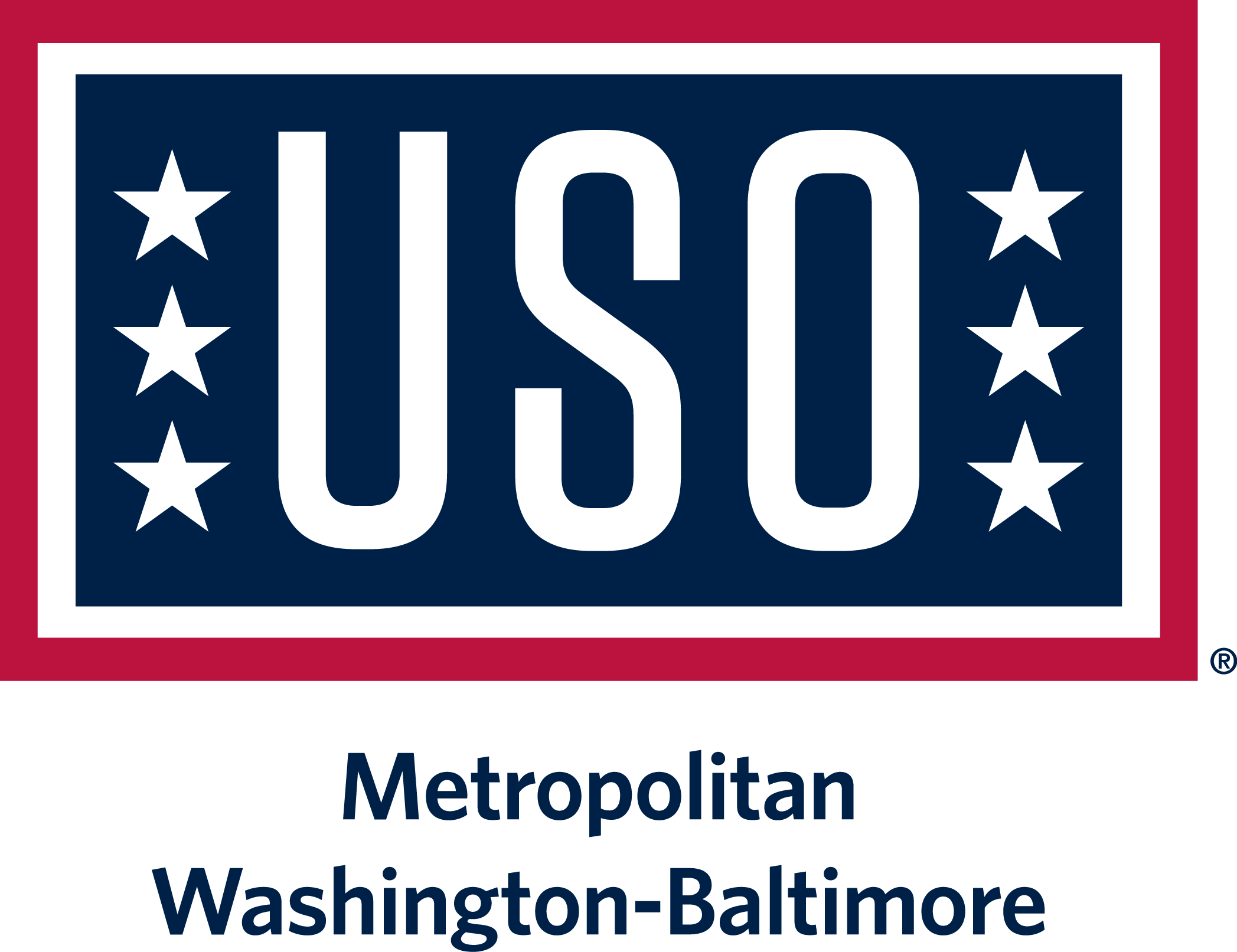 USO of Metropolitan Washington-Baltimore: Call for Volunteers Logo