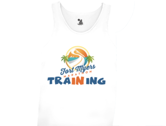 "Fort Myers Marathon ""In Training"" Tank- White (unisex)"