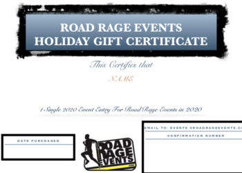 Single Event Gift Certificate - Good for ANY Road Rage Events Race in 2020