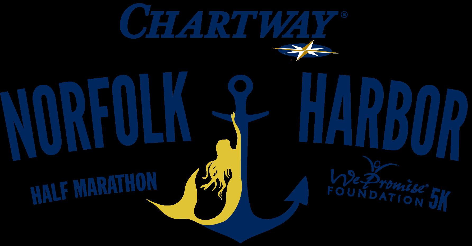 Chartway Norfolk Harbor Half Marathon & We Promise Foundation 5K presented by Bon Secours In Motion Logo