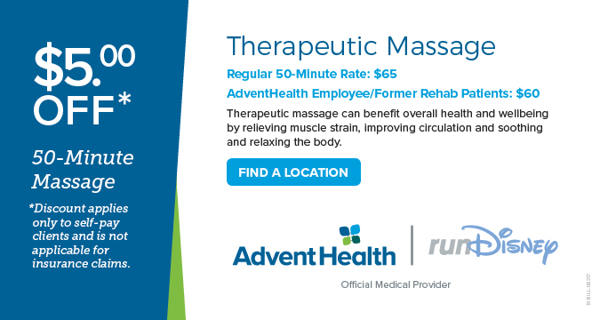 AdventHealth Massage Discount Image