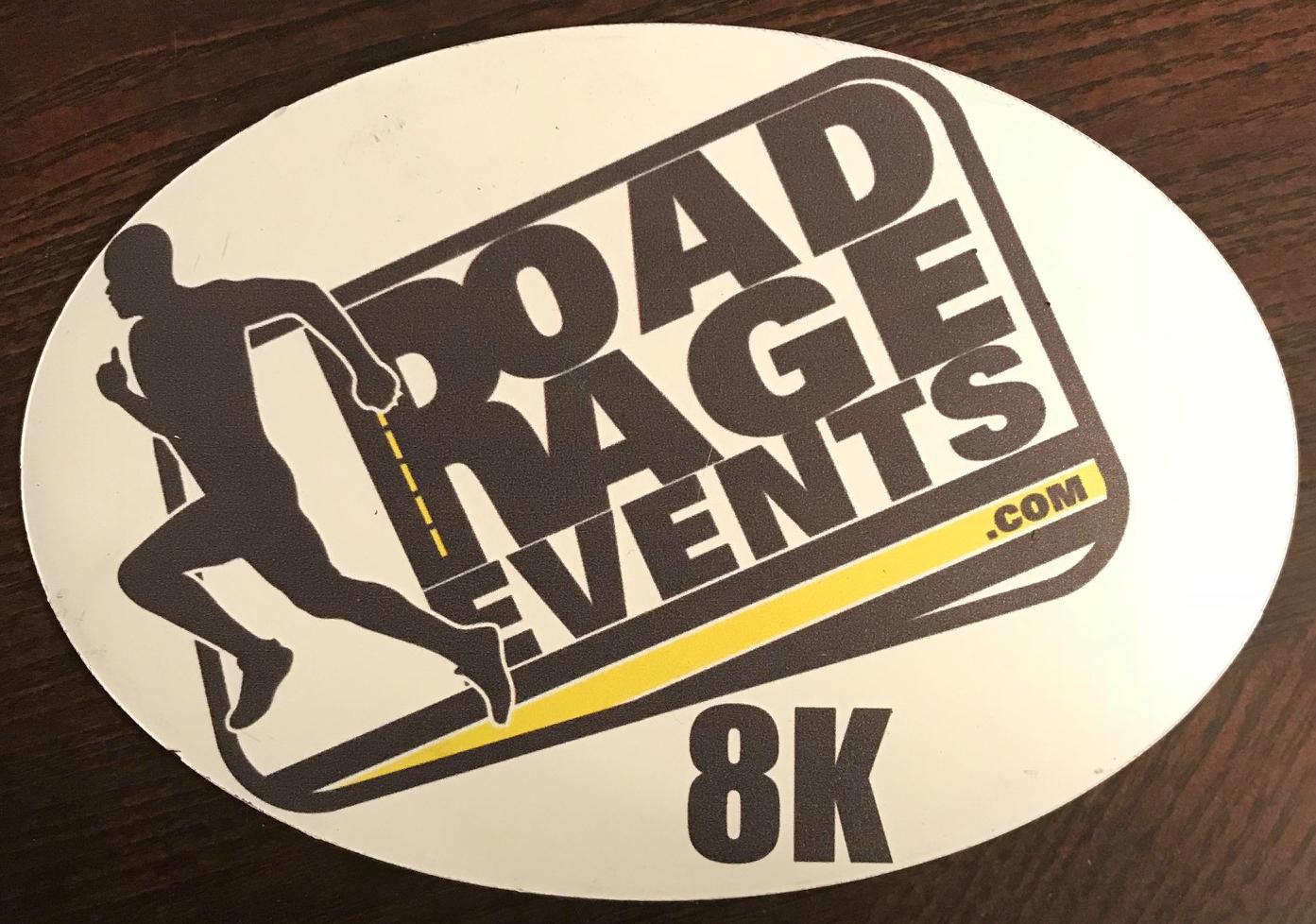 Road Rage Events 8k Magnet