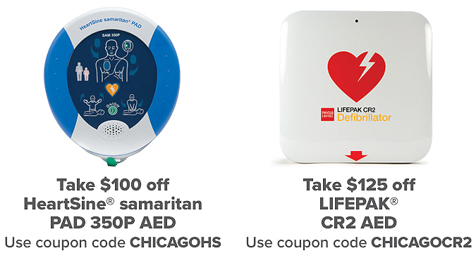 Save up to $125 on an AED