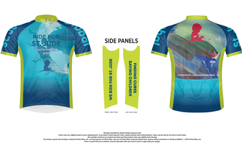 Official St. Jude Ride Cycling Jersey