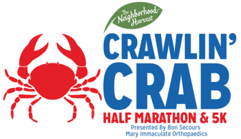 2019 The Neighborhood Harvest Crawlin' Crab Half Marathon and 5K logo
