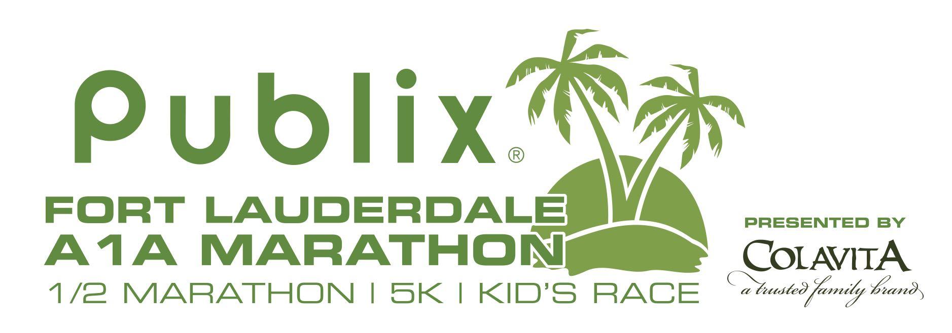 Publix Fort Lauderdale A1A Marathon & Half Marathon  Logo