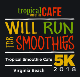 Tropical Smoothie Cafe 5K & Jr Smoothie 1 Mile - Virginia Beach