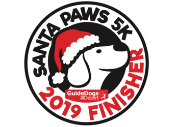 SANTA PAWS 5K benefiting GUIDE DOGS OF THE DESERT- P.S. Lions Club, Title Sponsor