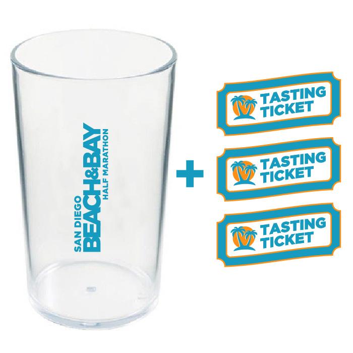 Souvenir Beach Cup & 3 FREE Tasting Tickets