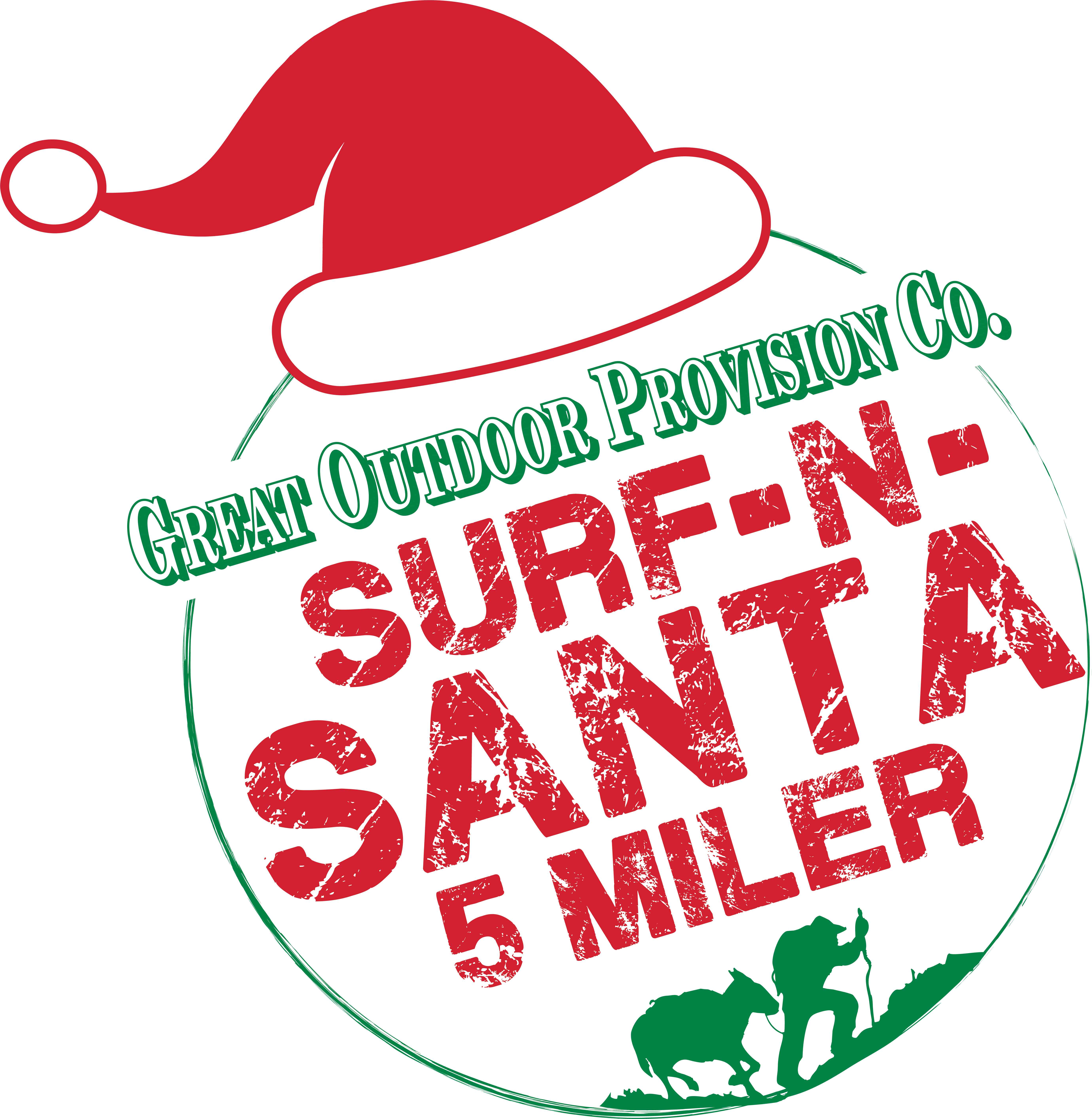 The Great Outdoor Provision Co. Surf-N-Santa 5 Miler presented by Bon Secours In Motion Logo