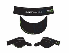 Run Orlando Headsweats Visor-Black