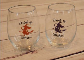 Witches Wine Glasses