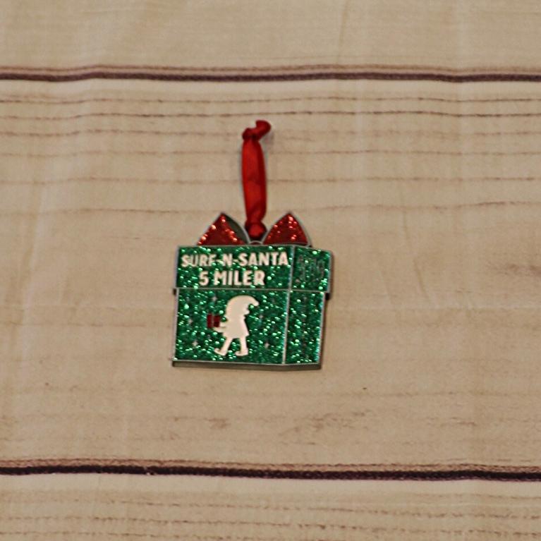 Surf-n-Santa Ornament