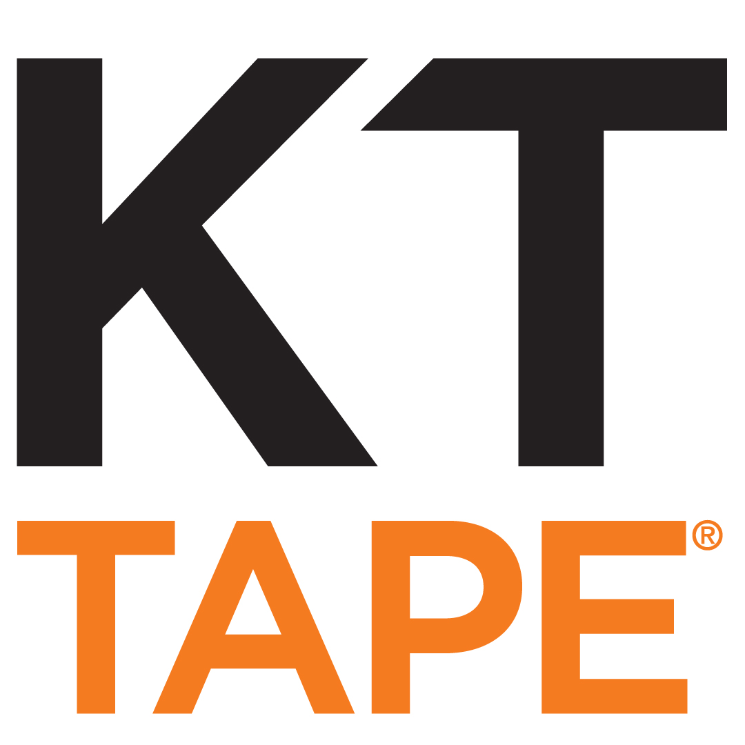 KT Tape - GET TAPED BEFORE THE RACE Logo