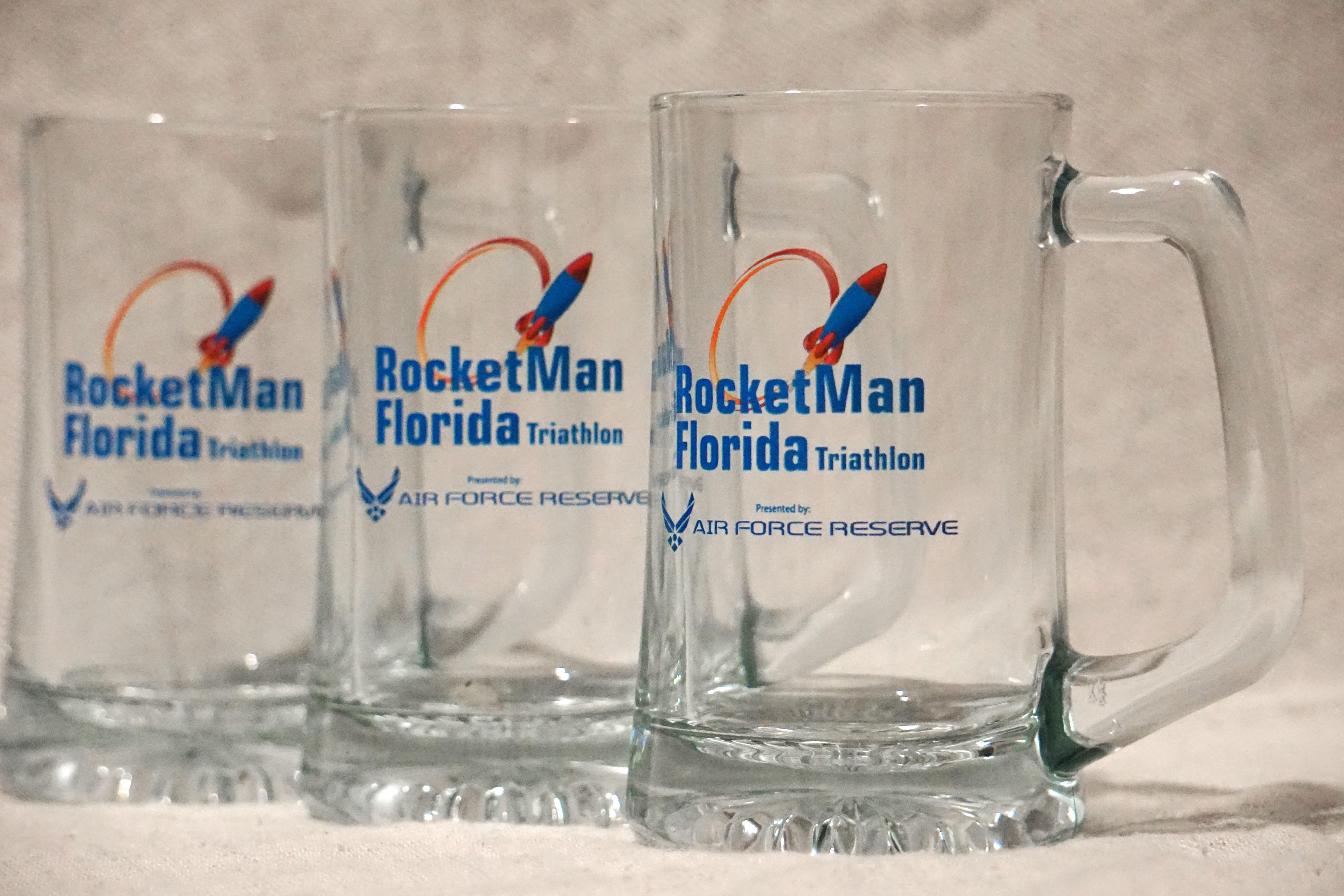Commemorative Rocket Man Stein Glass