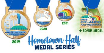 2019, 2020, 2021 OUC Orlando Half Marathon Bundle