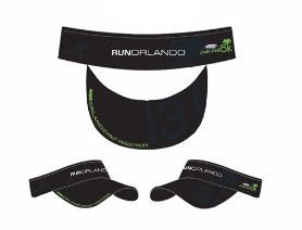 Run Orlando Headsweats Visor-Black-