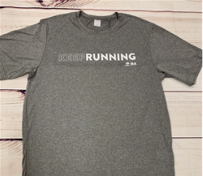 KEEP RUNNING UNISEX TECH TEE