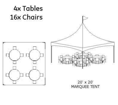 20 x 20 Tent Rental
