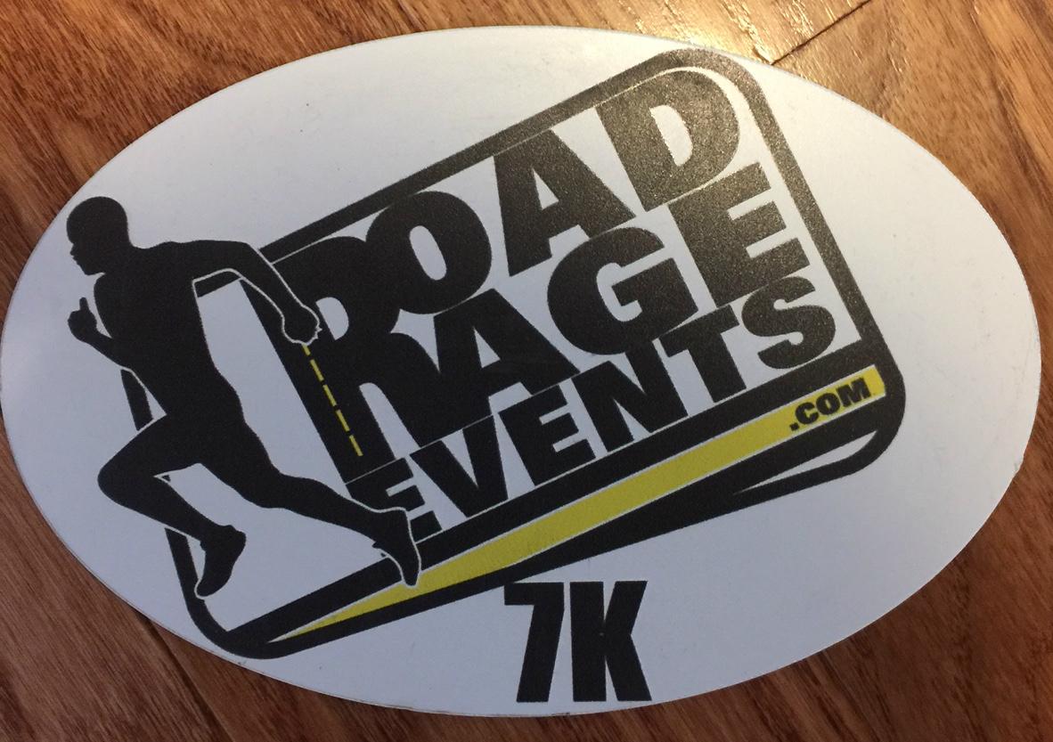 Road Rage Events 7K Magnet