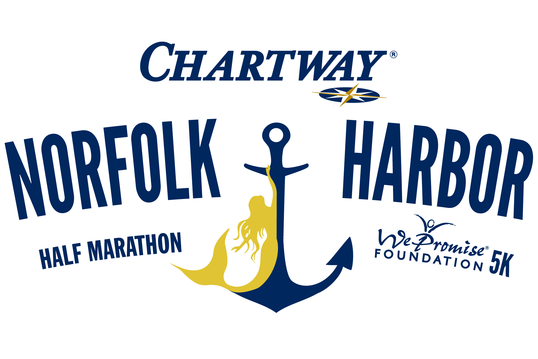 Chartway Norfolk Harbor Half Marathon & We Promise Foundation 5K presented by Bon Secours In Motion Logo