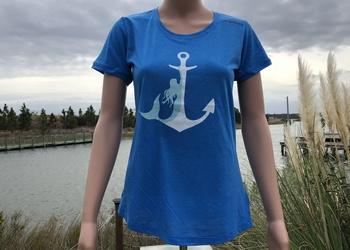 Norfolk Harbor Mermaid Anchor Ladies' Brooks Distance Tee
