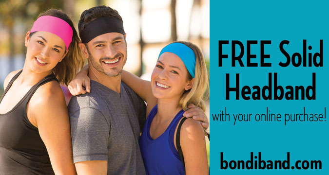 FREE Solid Color Wicking Headband
