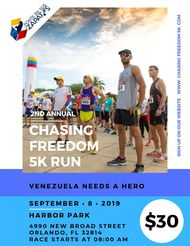 Chasing Freedom for Venezuela 5K