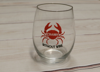Crabby Without Wine Glass