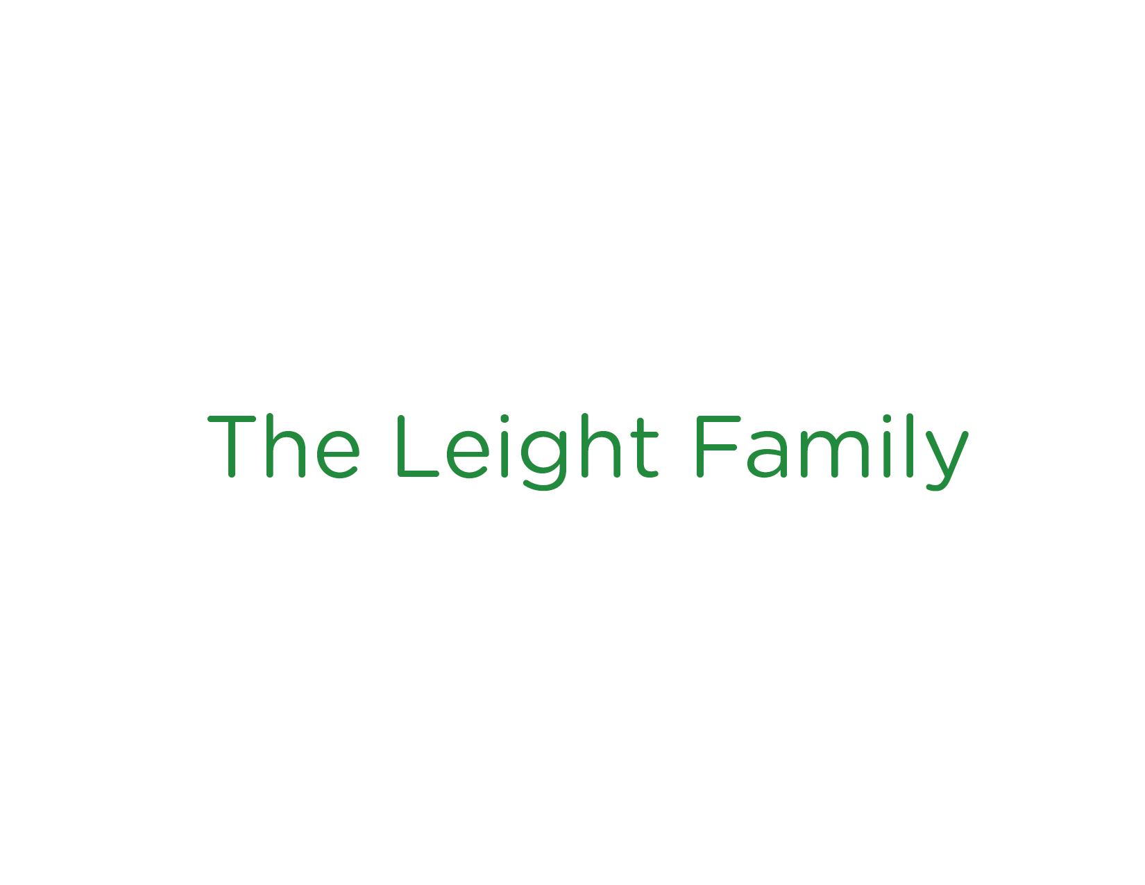 The Leight Family
