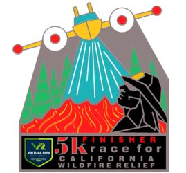 California Wild Fire Relief Virtual 5k logo