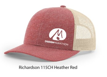 Ogden Marathon Heathered Red Hat