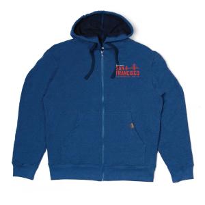 Recover Brand Zip Hoodie - Sweet Blue