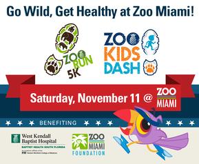 2017 ZooRun5K & ZooKidsDash benefiting West Kendall Baptist Hospital and Zoo Miami Foundation