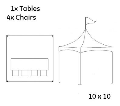 10 x 10 Tent Rental