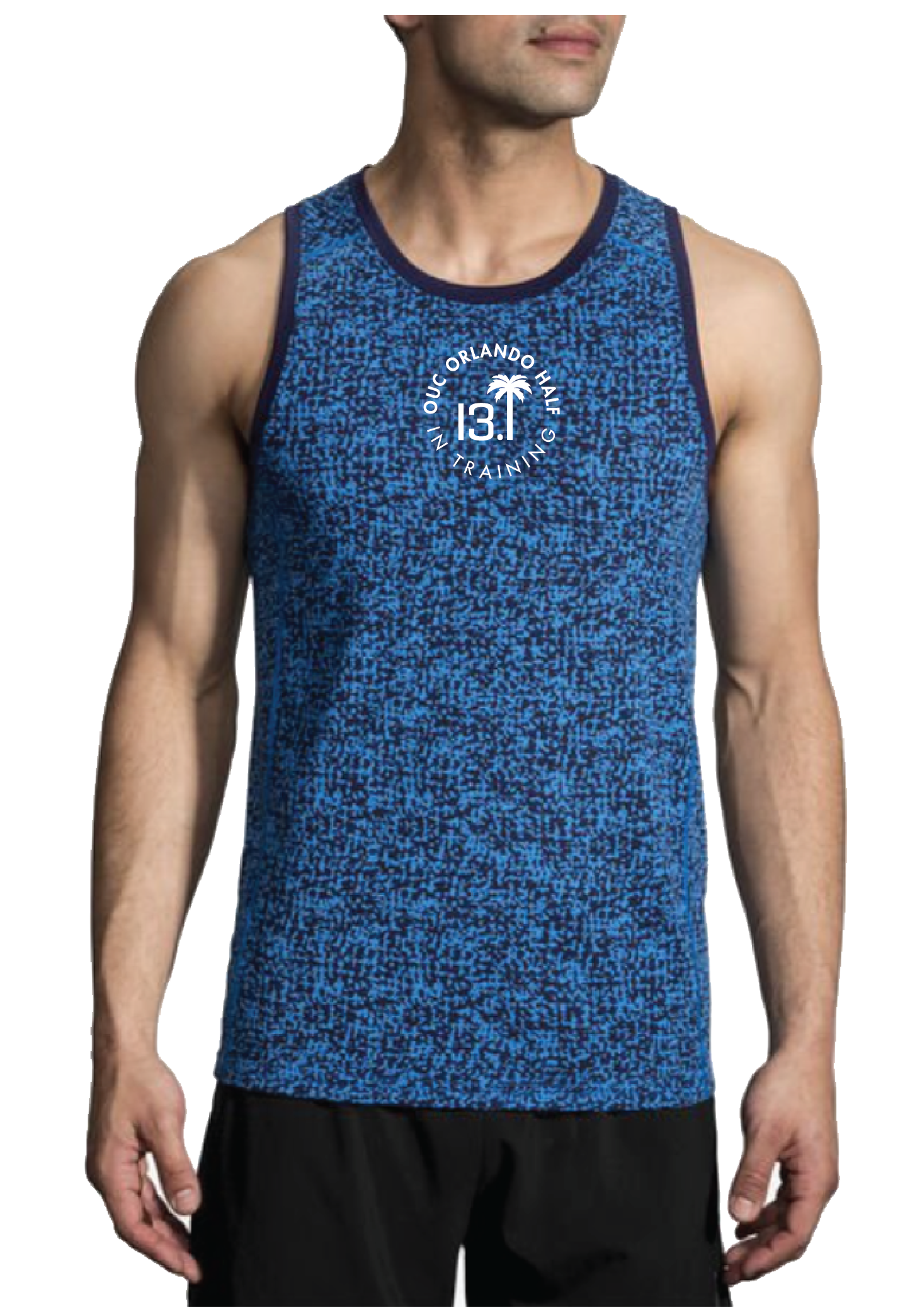 Brooks Men's Distance Tank - Blue