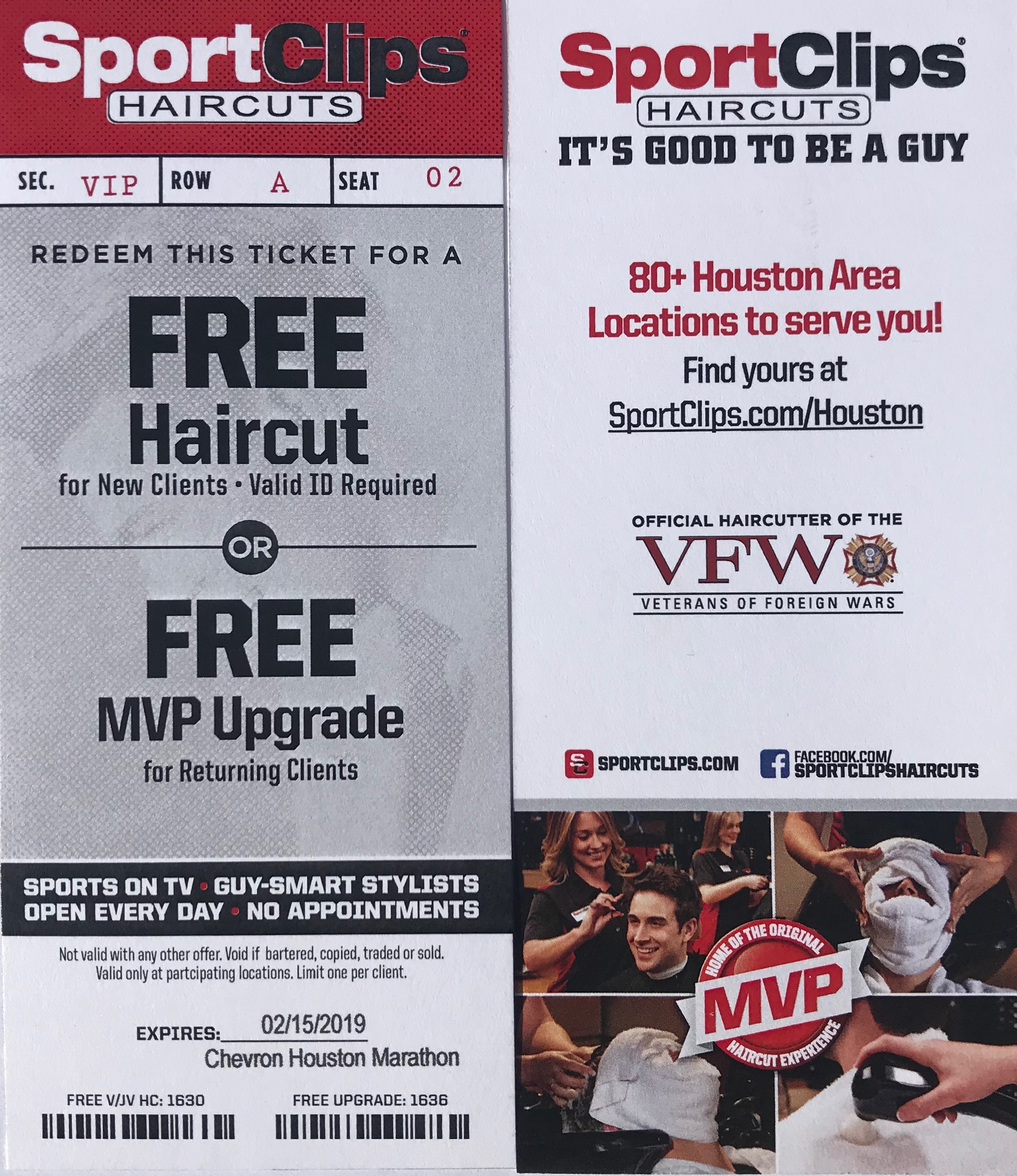 FREE Haircut or MVP Experience presented by SPORTCLIPS HAIRCUTS
