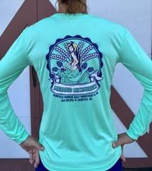 Masked Mermaid Beer Label Tech Tee - Women's Sizing