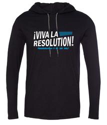 VIVA LA RESOLUTION! Lightweight t-shirt hoodie - black