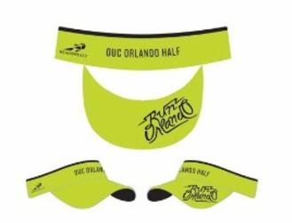 Run Orlando Headsweats Visor- Tropical Green