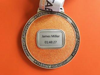 Eversource Hartford Marathon: iTAB Personalized Medal Plate