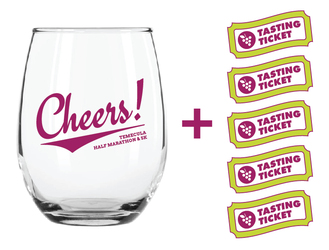 Extra Cheers! Wine Glass + 5 FREE Tasting Tickets