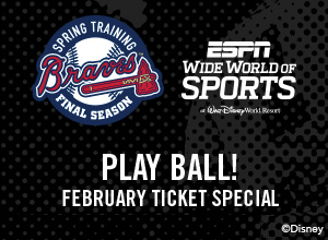 Atlanta Braves Spring Training - February Ticket Offer