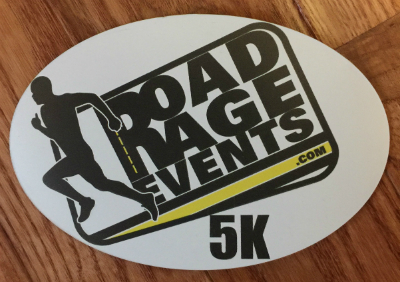 Road Rage Events 5K Car Magnet