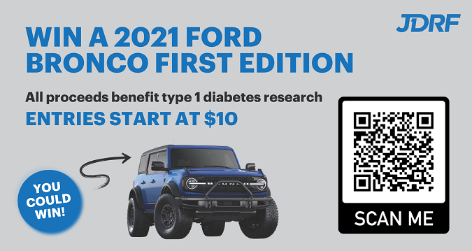 WIN A Ford® Bronco & Support JDRF