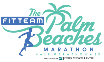 FITTEAM Palm Beaches Marathon 2019 logo