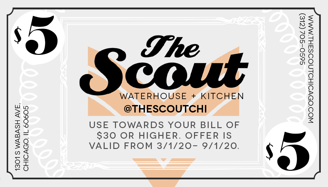 The Scout - $5 off your bill of $30+