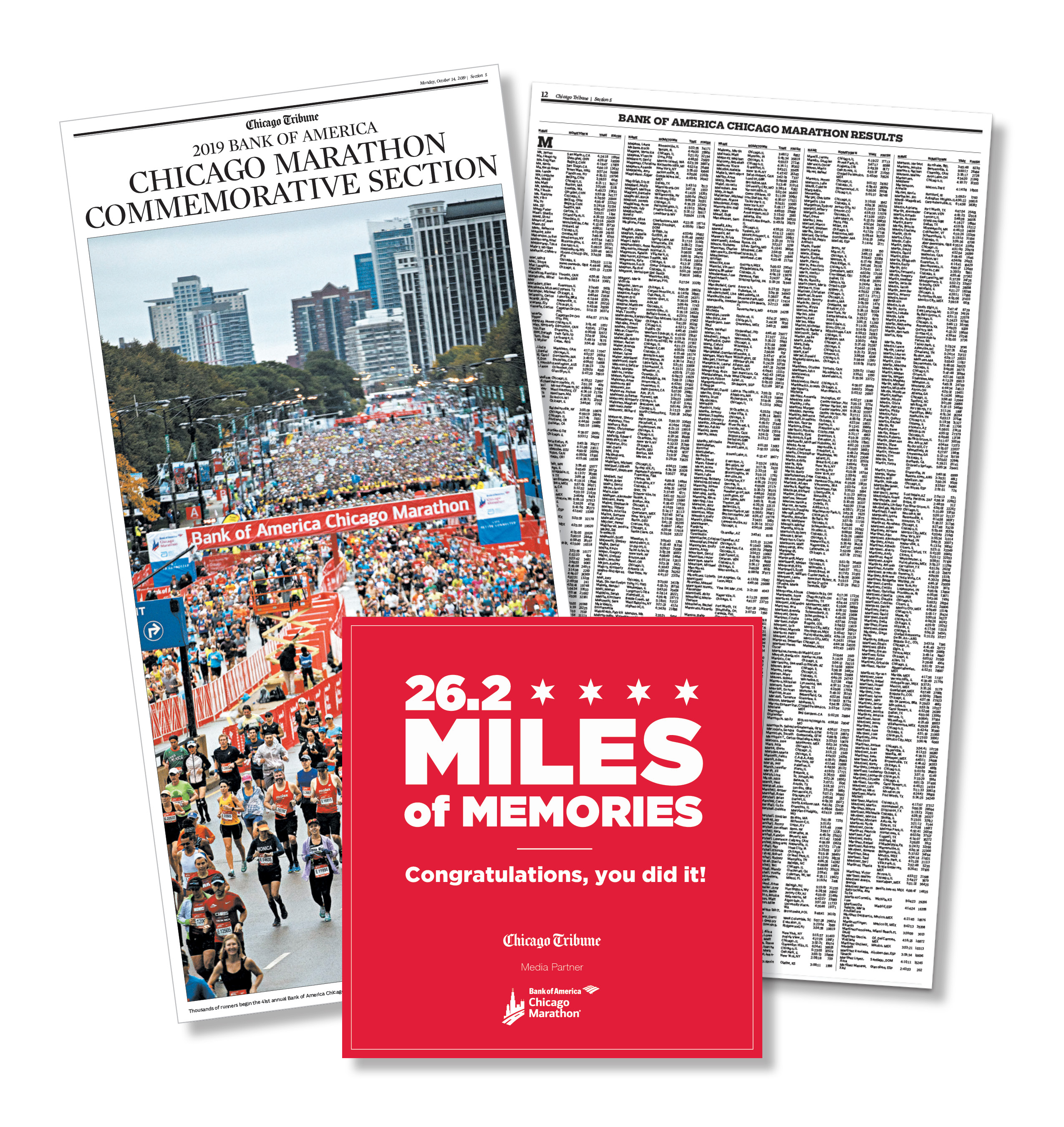 U.S. Commemorative Results Package