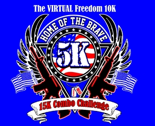 The VIRTUAL Freedom 10K, Home Of The Brave 5k